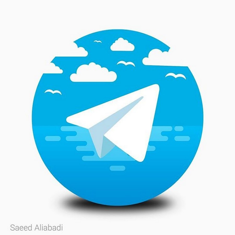 طرح گرافیکی با الهام از لوگوی تلگرام