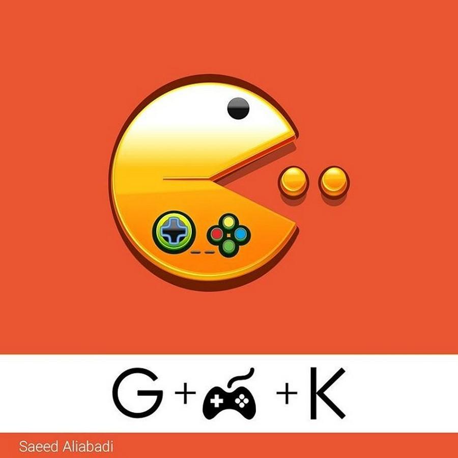 طرح اینفوگرافیک لوگوی گیم خوره